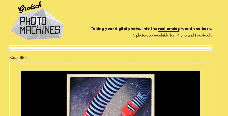 Webby Award Nominee - Grolsch Photo Machines