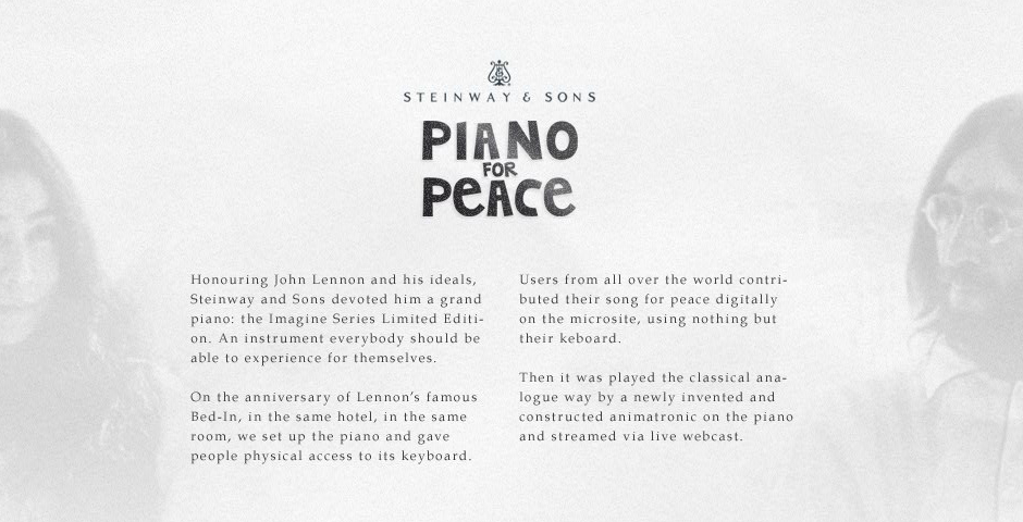 Nominee - Piano for Peace