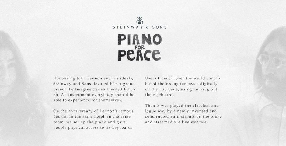 2013 Webby Winner - Piano for Peace