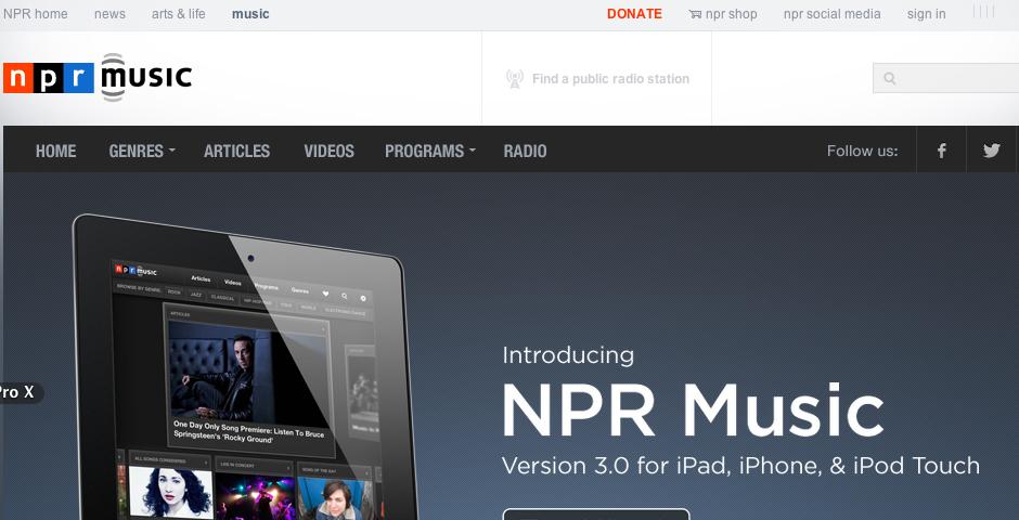 Honoree - NPR Music for iPad