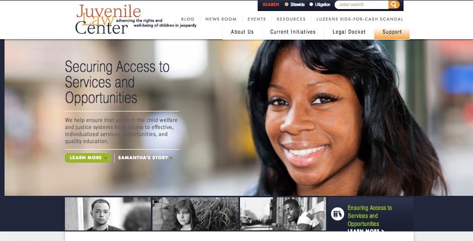 Webby Award Winner - Juvenile Law Center Website
