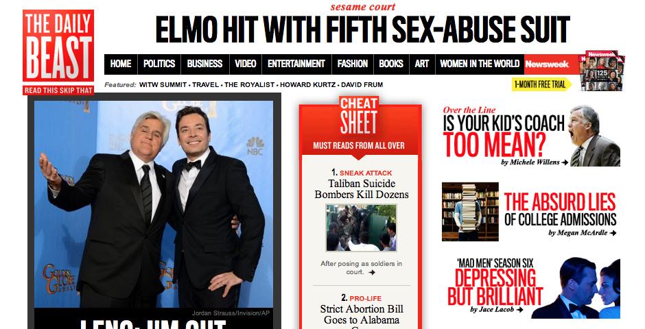 2013 Webby Winner - The Daily Beast