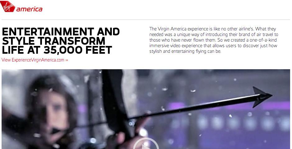 2013 Webby Winner - Experience Virgin America