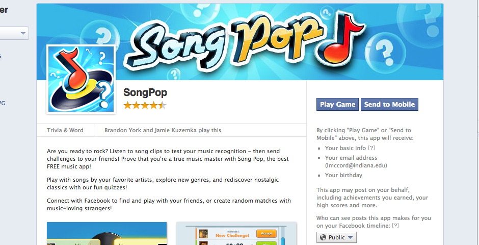 SongPop -- The Webby Awards