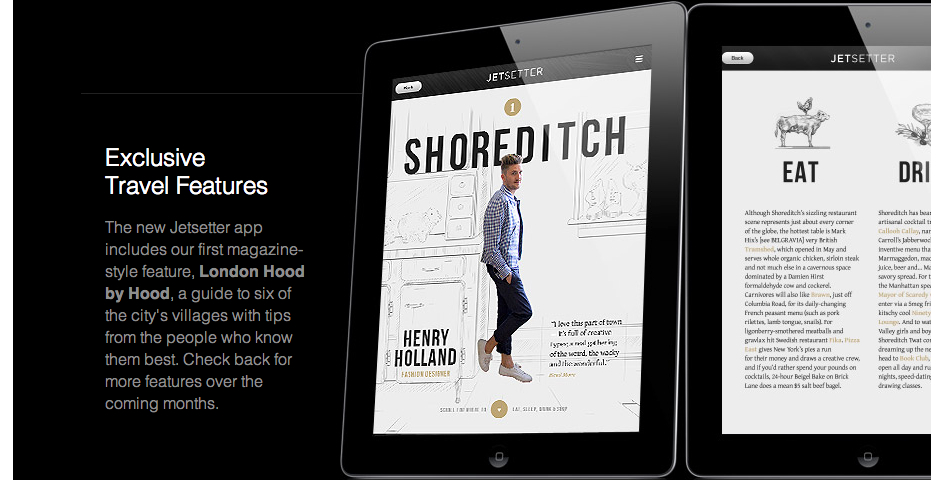 Nominee - Jetsetter for iPad