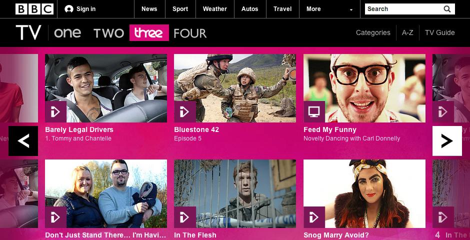 Nominee - BBC TV Channel Site: BBC Three