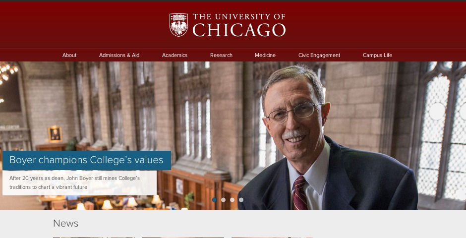 People's Voice / Webby Award Winner - The University of Chicago