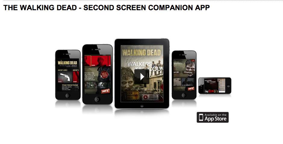 2013 Webby Winner - FX, The Walking Dead, Walkers Kill Count Companion app