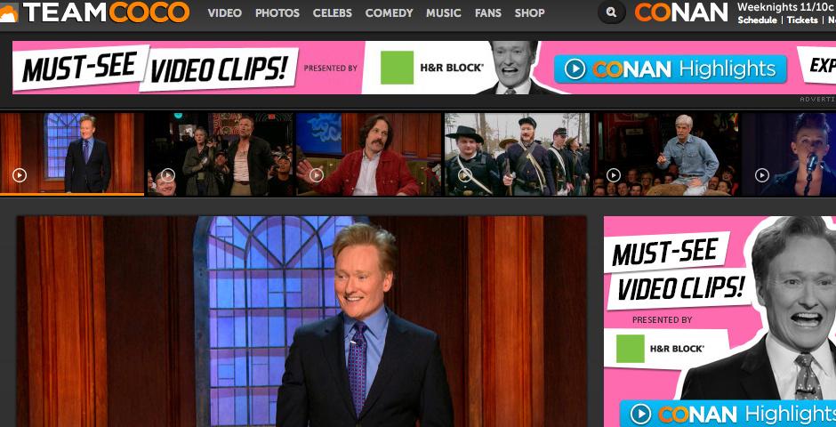 People's Voice / Webby Award Winner - Conan O'Brien Presents: Team Coco Digital