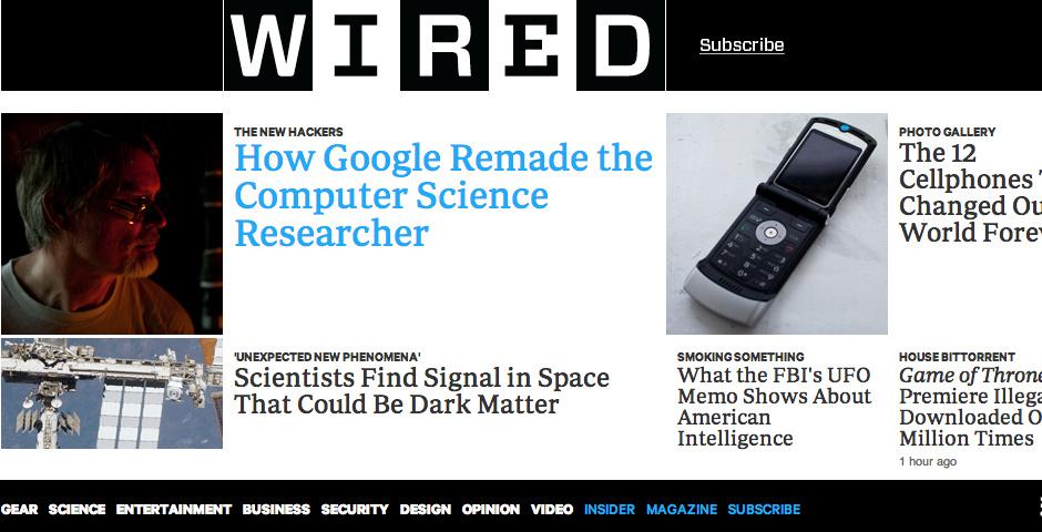2013 Webby Winner - Wired.com