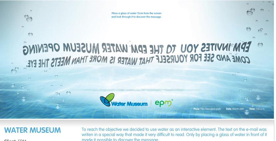 2013 Webby Winner - Water Museum