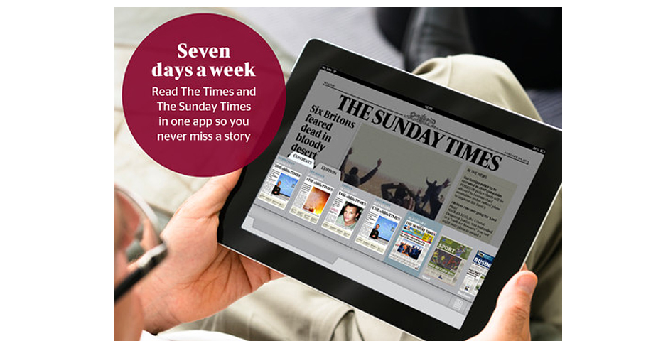 Nominee - The Sunday Times iPad edition