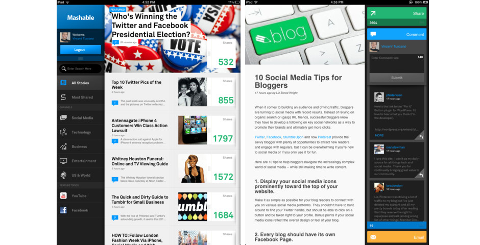 Nominee - Mashable for iPad