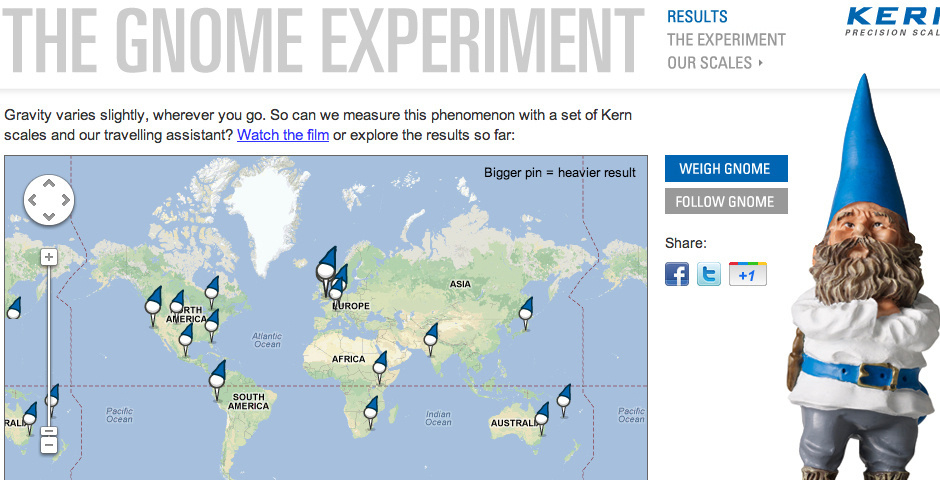 2013 Webby Winner - The Gnome Experiment