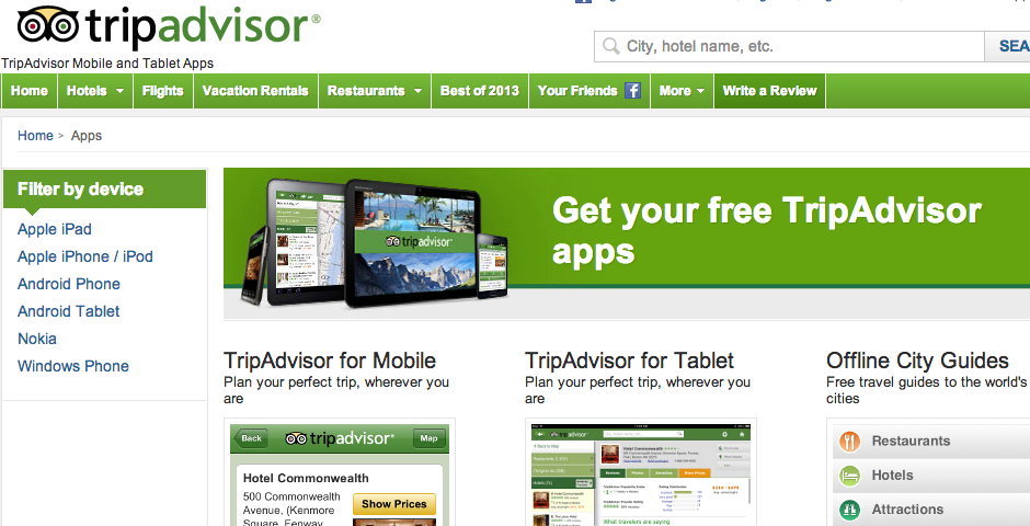 Nominee - TripAdvisor Mobile