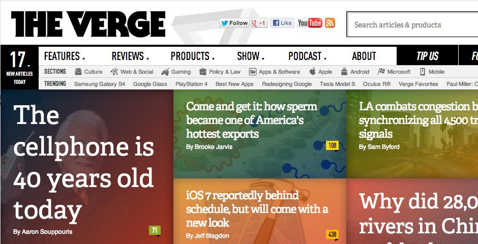 2013 Webby Winner - The Verge