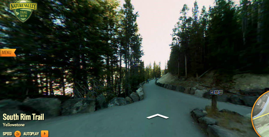 2013 Webby Winner - Nature Valley Trail View