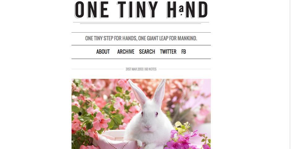 Webby Award Winner - one tiny hand