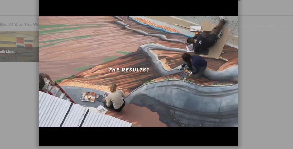 Webby Award Nominee - Cadillac ATS vs The World Chalk Murals