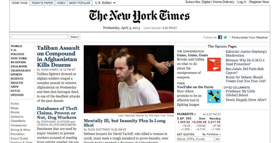 Webby Award Nominee - NYTimes.com