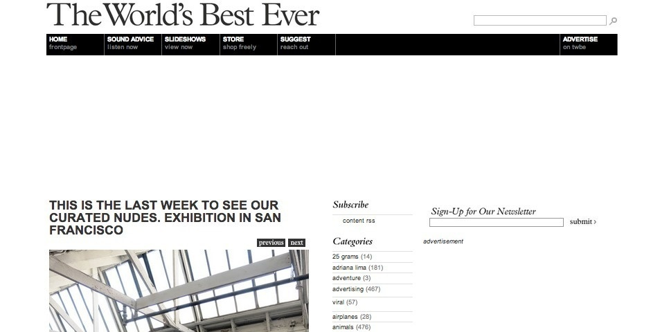 Webby Award Nominee - The World\'s Best Ever