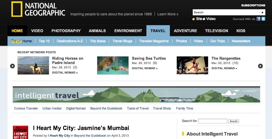 Nominee - Intelligent Travel Blog