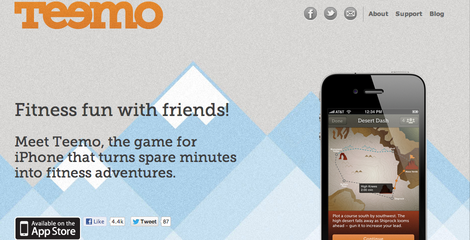 Nominee - Teemo: the iPhone adventure game for fitness fun with friends