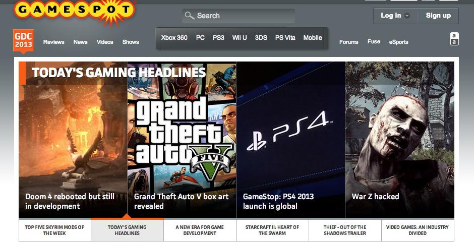 Webby Award Winner - GameSpot