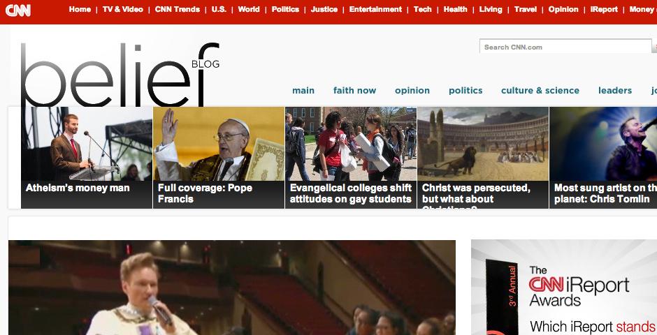 2013 Webby Winner - CNN Belief Blog