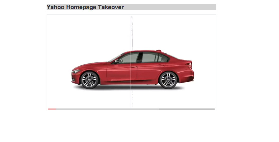Webby Award Nominee - BMW Yahoo Homepage Takeover