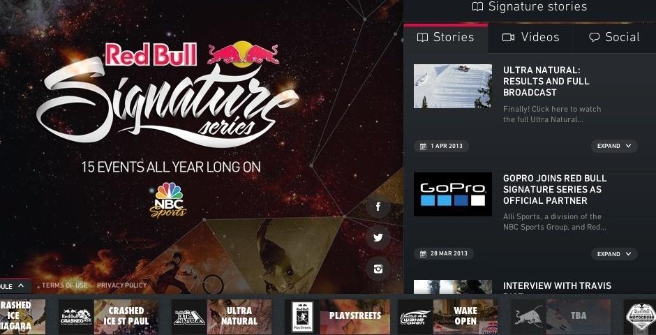Webby Award Nominee - Red Bull Signature Series