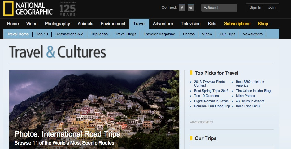 Nominee - National Geographic Travel Site