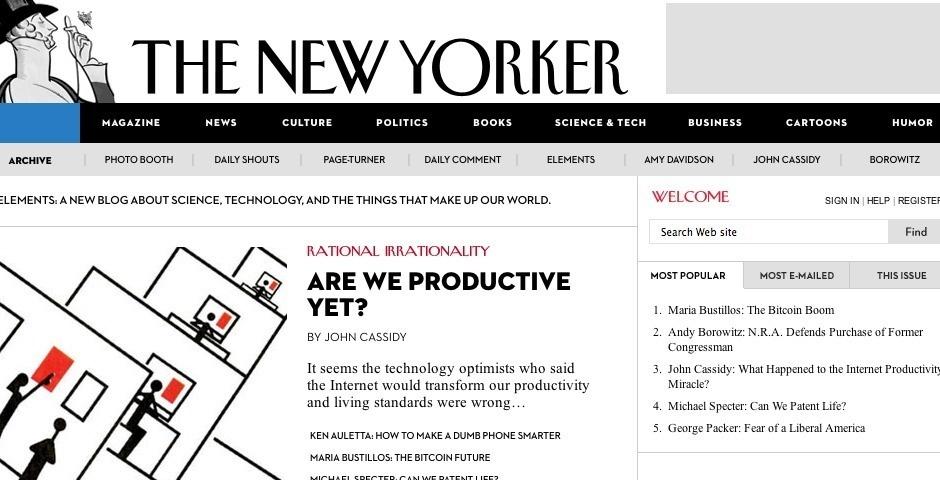 Webby Award Nominee - Newyorker.com