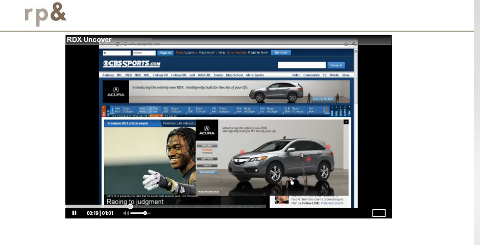 Webby Award Nominee - RDX online campaign
