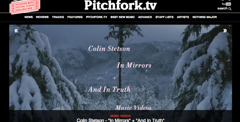 Webby Award Winner - Pitchfork TV