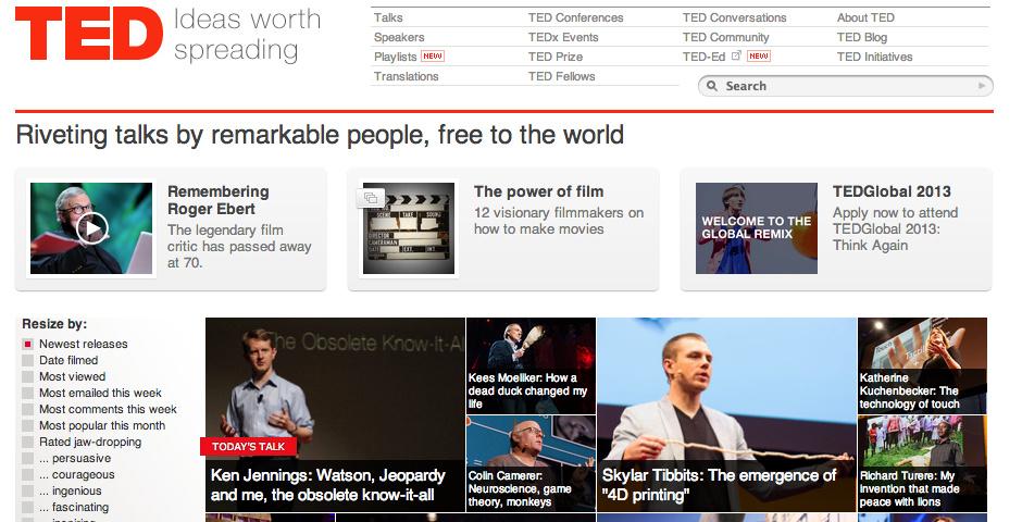 2013 Webby Winner - TED