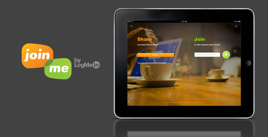 Webby Award Nominee - join.me for iPad
