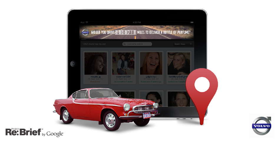 """Nominee - """"Drive It Like You Hate It"""" Re-imagined for Volvo, Project Re: Brief by Google"""