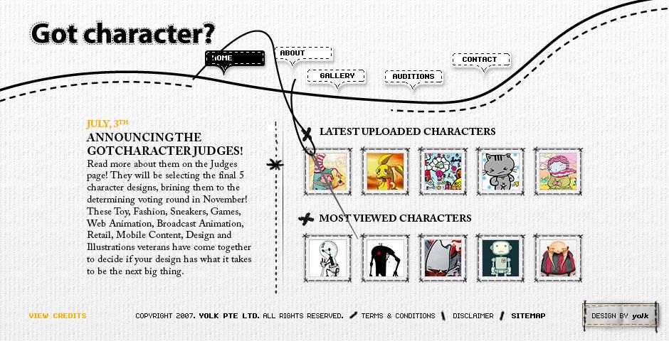 2008 Webby Winner - Got Character?