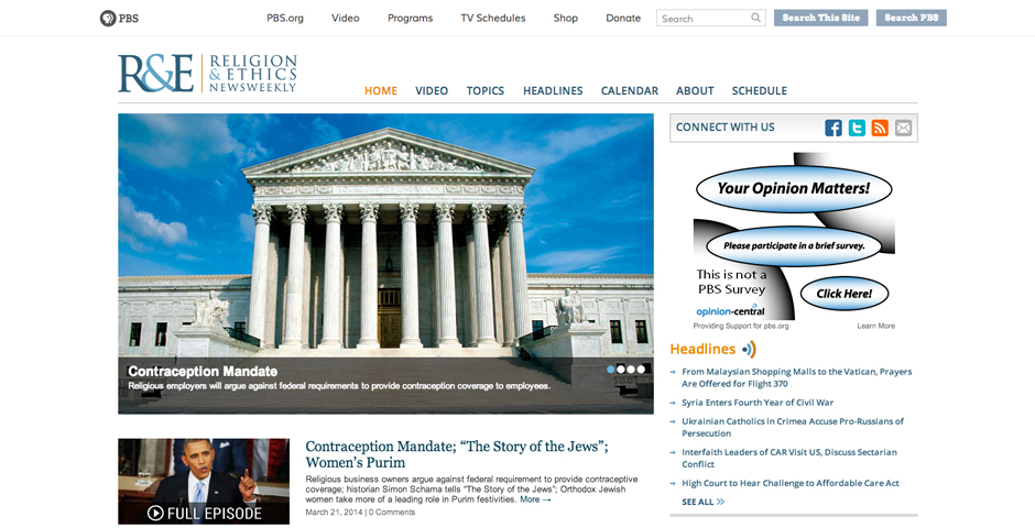 Webby Award Winner - Religion & Ethics NewsWeekly