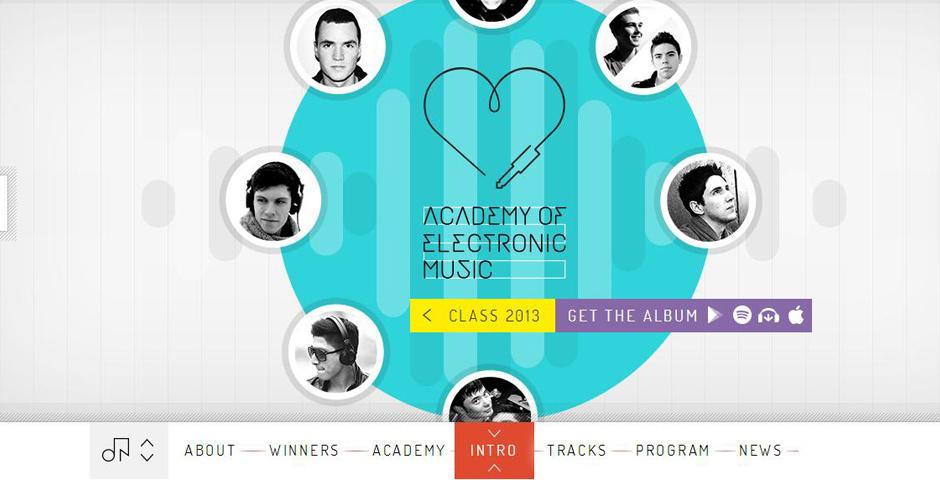 2014 Webby Winner - Google, Armada, Point Blank, DJ Mag: Academy of Electronic Music