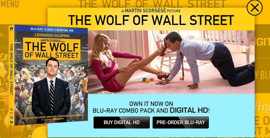 Webby Award Nominee - The Wolf of Wall Street Official Movie Site