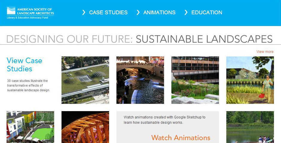 Webby Award Nominee - Designing Our Future: Sustainable Landscapes