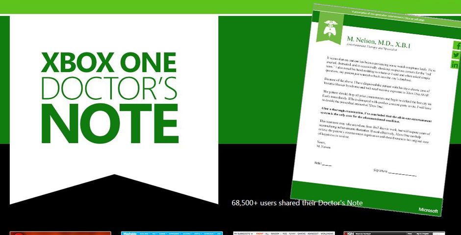 People's Voice - Xbox One: Doctor's Note