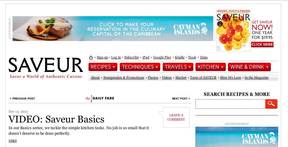Nominee - Saveur Basics