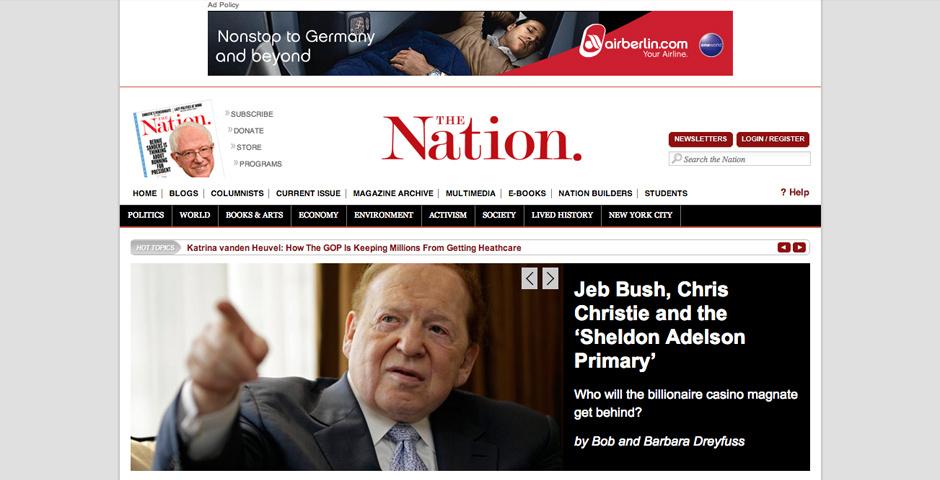 Webby Award Nominee - TheNation.com