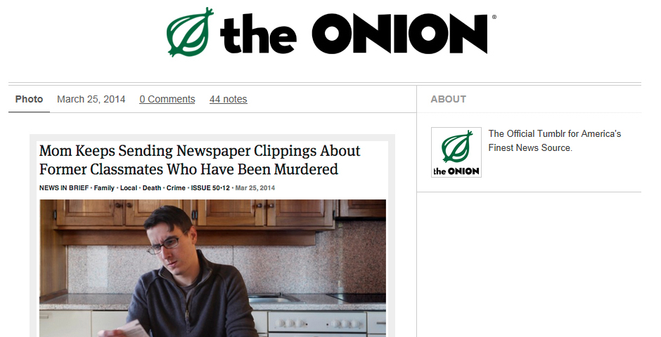 People's Voice / Webby Award Winner - The Onion