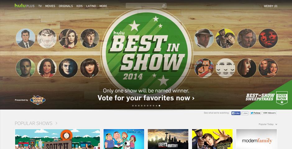 2014 Webby Winner - Hulu Plus