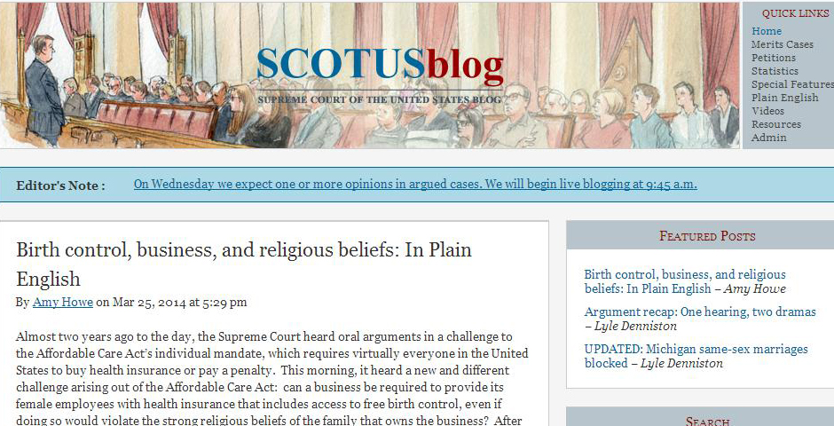 Webby Award Winner - SCOTUSblog