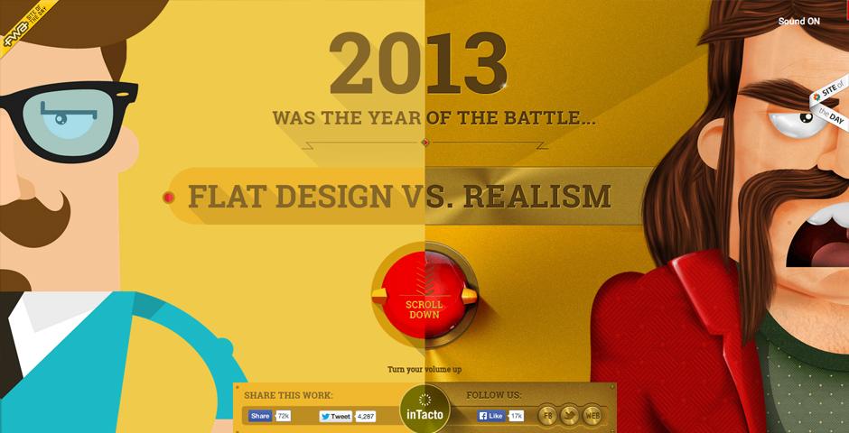 People's Voice / Webby Award Winner - Flat Design vs Realism
